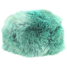 Pre-owned Green Fur Hat ($140) ❤ liked on Polyvore featuring accessories, hats, green, green hat and fur hat
