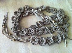 Crochet Necklace, Scarflette or Belt Pattern PDF Easy, versatile and adjustable.. $3.60, via Etsy.
