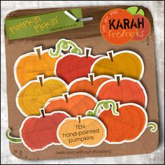 Pumpkin Pickin' - element pack by Karah Fredricks ... Digital Scrapbooking