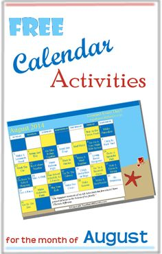 Free Monthly Activities Calendar for subscribers!  Small things you can do to connect as family every day!