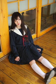 Japanese school uniforms daily lattice solid pleated skirt Free shipping - Thumbnail 1