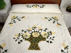 Garden Basket Quilt -- outstanding carefully made Amish Quilts from Lancaster (hs2387)