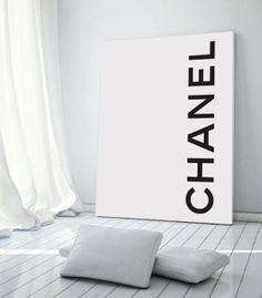 This lovely Chanel Inspired Sign with Chanel Name would make a great addition to any Chanel themed party. Select your print size desired. You will have two choices cut sign out to fit your frame pe Chanel Wall Art, Chanel Decor, Chanel Art, Chanel Logo, My New Room, My Room, Chanel Bedroom, Chanel Poster, Coco Chanel Fashion