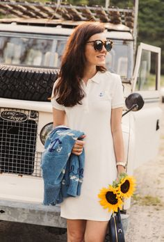 The anchor polo dress classy girls wear pearls classy dress, Polo Dress Outfit, Polo Shirt Outfits, Preppy Outfits, Preppy Style, Dress Outfits, Fashion Outfits, Prep Fashion, Polo Shirts, Sweater Outfits