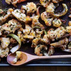 Roasted Cauliflower with Lemon-Parsley Dressing Recipe