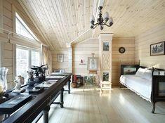 Фото интерьера кабинета небольшого дома в стиле неоклассика