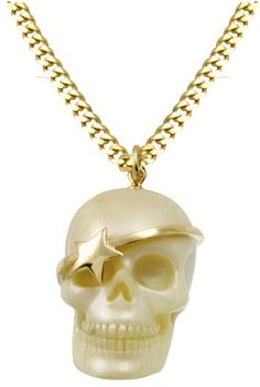 Wildfox Couture Gold Skull Necklace Always wanted something with a skull and this is girly too