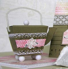 Mel Stampz: Teapot Box (from a Tiny Take out template)