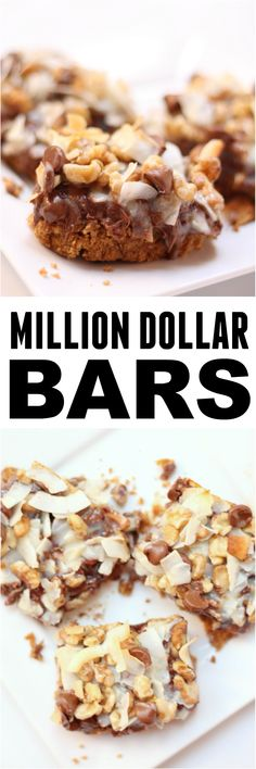 These Copycat Million Dollar Bars are a family favorite - and they are done in 30 minutes (from start to finish!) ~ Six Sisters' Stuff Desserts To Make, Best Dessert Recipes, Desert Recipes, Sweet Recipes, Delicious Desserts, Bar Recipes, Family Recipes, Yummy Food, Brownie Recipes