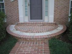 semi-circular brick step/entrance