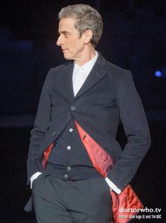 Peter Capaldi at the BBC Worldwide showcase event in costume! - Nerd Reactor LOVE! #doctorwho #petercapaldi
