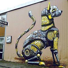 Street Art by Pixel Pancho - Germany - 2013 #street #art #urban…