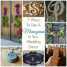 7 Ways To Use A Monogram In Your Wedding Decor