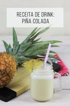 Aprenda uma receita super fácil do drink piña colada :-) // Receitas de bebidas vegetarianas, saudáveis e deliciosas! :-) // palavras-chave: receita, passo a passo, ideia, tutorial, gastronomia, cozinha, pina colada, bebida, natal, drinks, álcool, abacaxi, pirata, Porto Rico, leite de coco, birita, cachaça.