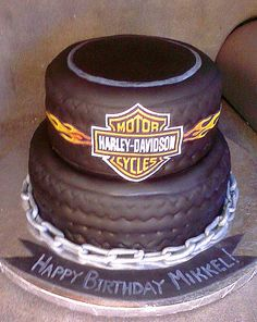 Harley Davidson Cake  CustomDesignCatering.com