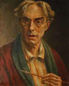 Roger Eliot Fry in England) Self-portrait. An expert in the Italian Renaissance and a champion of Post-Impressionism, promovió el arte moderno Duncan Grant, Vanessa Bell, Virginia Woolf, Bloomsbury Group, National Gallery, French Paintings, Post Impressionism, Collaborative Art, Old Master