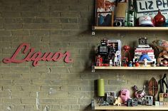 Liquor lounge handmade wood sign wall decoration by OhDierLiving