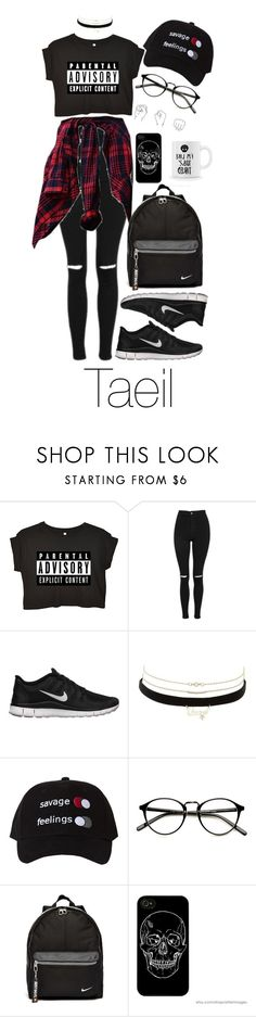 """nct 127  Taeil"" by vieen ❤ liked on Polyvore featuring Topshop, NIKE and Charlotte Russe"