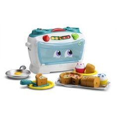 The LeapFrog Number Lovin' Oven is designed for aspiring chefs ages 2 years and up, the Number Lovin' Oven comes with 16 fun ingredients and plenty of learning baked in. Get number skills cooking with the sassy, singing oven-30+ songs and phrases warm up counting, sharing and vocabulary skills. Little ones can move the number slider to learn about time and temperature, cut food into 2, 3 or 4 equal pieces to build math skills, and press the Chef's hat to count and sing along to lively songs…