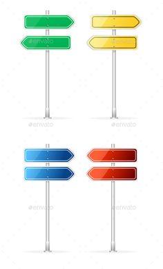 Arrow Template for Text. Vector