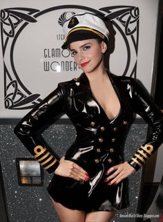 Emma Watson in Latex uniform manip by Andylatex on deviantART... check it out: http://www.pinterest.com/meldarfranny/