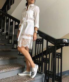 """22 Likes, 3 Comments - ОДЕЖДА ИЗ ИТАЛИИ! (@bella_italia_nsk) on Instagram: """"очень красивая Рубашка- платье! Хлопок с кружевом ! С невысоким ростом можно носить как платье!…"""""""