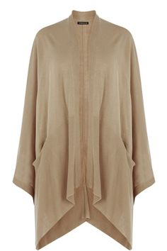 This chic cape is the perfect spring cover-up. The cape is constructed from a super soft knit and features an open front, rib detailing to hem and two large front pockets. Height of model shown: 5ft 10 inches/178cm. Model wears: UK size 10.Fabric:Main: 100.0% Acrylic.Wash care:Machine WashProduct code: 02298115 £35.00
