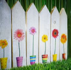 #springtime with #fototransferpotch on #wood #picket