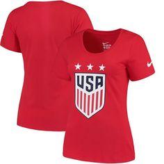 cae144aa8 US Women s National Soccer Team Nike Women s Crest T-Shirt - Red