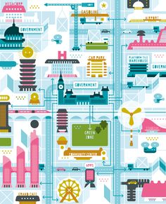 STBZ colourful illustrations for WIRED magazine