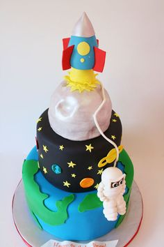 Rocket in Space Ship Cake - Pics about space
