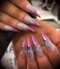 Pink Acrylic Nail Designs, Pink Acrylic Nails, Nail Art Designs, Gel Nails, Pink Chrome Nails, Coffin Nails, Nail Polish, Beautiful Nail Designs, Beautiful Nail Art