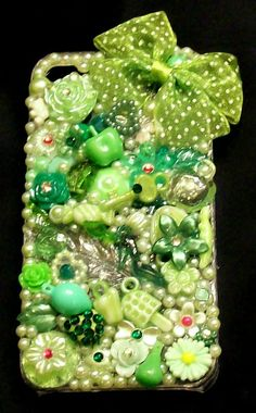Springtime Green Deco Den iPhone 4 4G 4S Case by DesignsByDaffney, $20.00