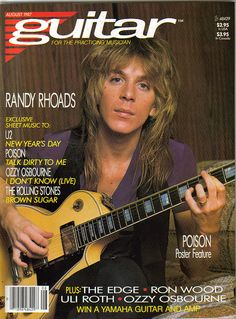 Randy Rhoads on the Cover of Guitar for the Practicing Musician