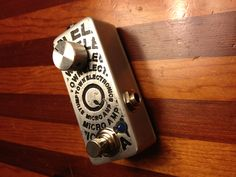 DIY guitar pedal with acid etched graphics.