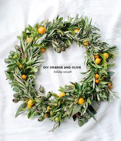 DIY orange wreath, Christmas