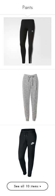 """""""Pants"""" by mlk465 on Polyvore featuring pants, leggings, adidas, striped trousers, stripe pants, legging pants, adidas trousers, striped leggings, activewear and activewear pants"""