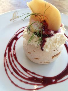 Almond Pavlova from Ella Dining Room & Bar, located at 1131 K St. in Downtown Sacramento.