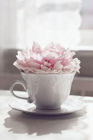 Peony teacup