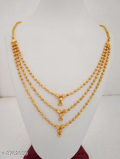 Checkout this latest Mangalsutras Product Name: *Women's Brass Gold Plated Mangalsutras* Sizes:Free Size (Length Size: 18 in)  Country of Origin: India Easy Returns Available In Case Of Any Issue   Catalog Rating: ★4.3 (582)  Catalog Name: Women's Brass Gold Plated Mangalsutras CatalogID_526714 C77-SC1097 Code: 963-3762059-858