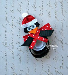 Paulie the Penguin- Perfect for Christmas and Winter--. $3.50, via Etsy.
