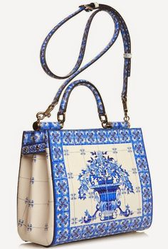 The Daily Bauble: Dolce & Gabbana Majolica-Print Leather Tote   The Terrier and Lobster