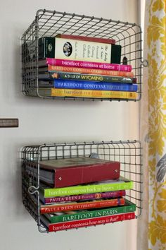 #DIY Book Storage I have some of these and this would work perfect for them!