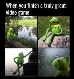 When You Finish a Truly Great Video Game
