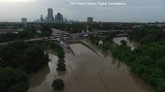 Pro Vision - Global Digital Surveillance sent a drone out to survey flooding along Memorial Drive in Houston. Description from nbcnewyork.com. I searched for this on bing.com/images