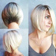 Stacked+A-line+Bob+Haircut+with+Light+Blonde+Hair