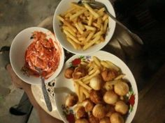 Maricel posted an update: For Snacks Fries and Squid Balls.