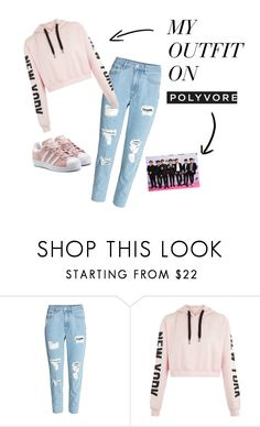 AND I WANT YOU TO BE MINE by dalia-424 on Polyvore featuring H&M and adidas Originals