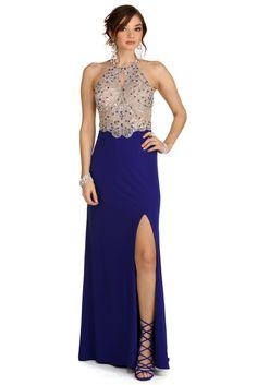 Blake Blue Jeweled Prom Dress | windsor