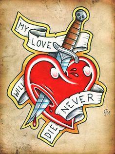 heart and dagger by CRAZYGRAFIX.deviantart.com on @deviantART